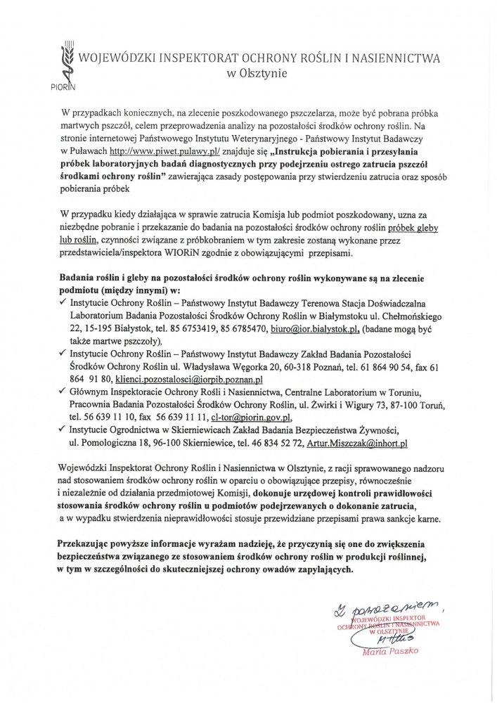 618576accdf5c2 Wojewódzki Inspektorat Ochrony Roślin i Nasiennictwa w Olsztynie ...